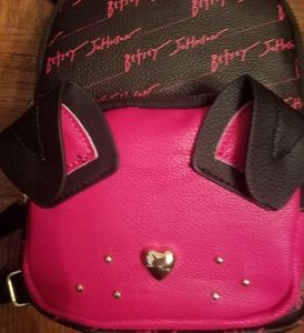 Betsey Johnson dog face mini backpack NWT